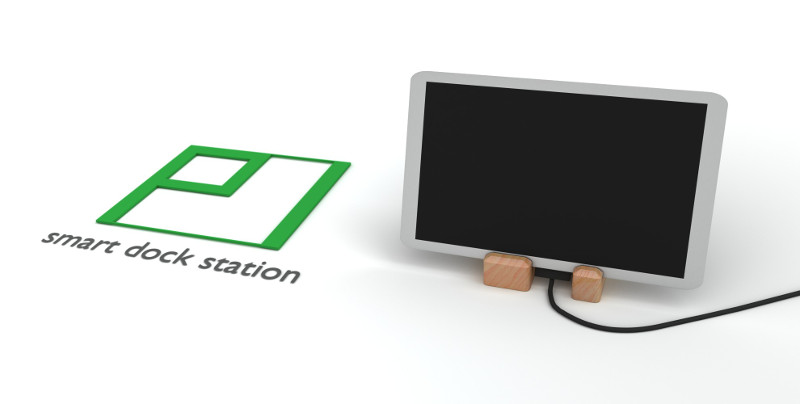 Pi smart dock station - open with charging tablet