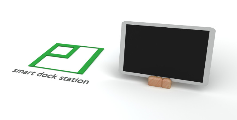 Pi smart dock station - closed and tablet